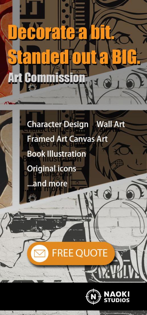 Illustrator advertising Free Quote NAOKI STUDIOS, Gold Coast Australia